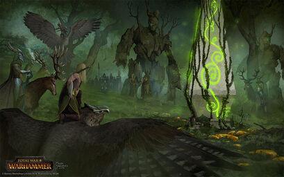 Reunión forestal Elfos Silvanos por Milek Jakubiec Warhammer Total War.jpg