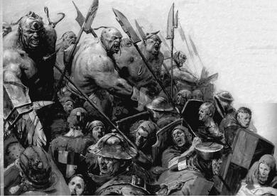 Carga Ogros vs Hombres de Armas 6ª Edición ilustración B&N.png