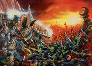 7ª Edición -Batalla por el Paso de la Calavera - Enanos contra Goblins Nocturnos - Dave Gallagher, 2006