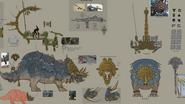 Estegadón Antiguo warhammer total war concept art