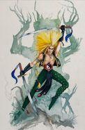 Bailarín Guerrero de Warhammer Quest por Dave Gallagher