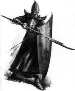 Lancero elfo Oscuro por Dave Gallagher