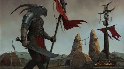 Portaestandarte Hombres Bestia por Milek Jakubiec Warhammer Total War.jpg