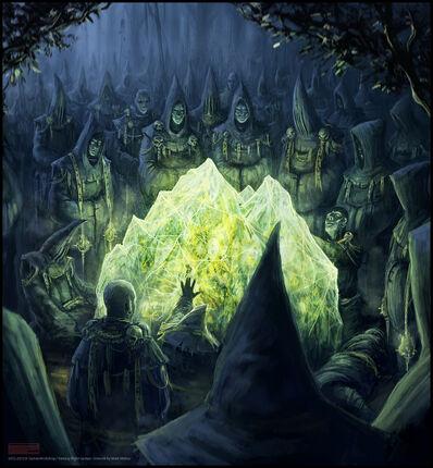 Warhammer Cataclysm Piedra de Disformidad por Mark Molnar Piedra bruja.jpg