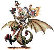 Chamán Orco en Serpiente Alada Piñoznegros Mark Gibbons