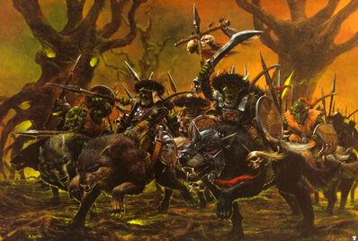 Jinetes de Lobo Goblins por Adrian Smith.jpg