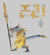 Kroq Gar por Rich Carey Warhammer Total War concept art