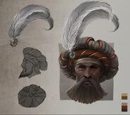 Sombrero de Noble Imperial arte conceptual Warhammer Total War