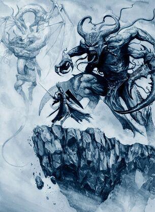 Aenarion última batalla Demonios del Caos Karl Kopinski.jpg