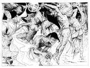 Bailarines Guerreros Danzando por Russ Nicholson