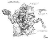 Boceto Comandante Enano 02 por Mark Gibbons