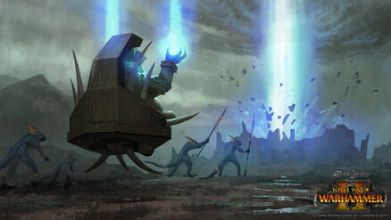 Destruccion ciudad mago sacerdote slann warhammer total war por Milek Jakubiec