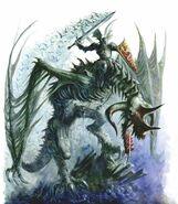 Dragon sangriento montado en dragón zombi por Dave Gallagher