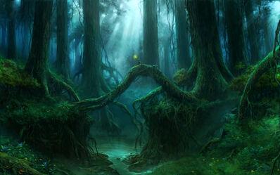 Bosque Athel Loren Elfos Silvanos por Sven Bybee.jpg