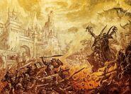 Batalla Imperio contra Guerreros del Caos por Dave Gallagher