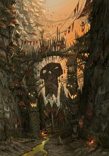 Portalón Orco Karak-ocho-Picos por Jonathan Kirtz Warhammer Online.jpg