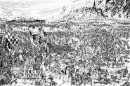 La Batalla de Middenheim por Russ Nicholson (descartado)