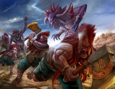 Matatrolles Warhammer por Erfian Asafat masterchomic Enanos Matadores.jpg