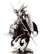 Caballero de Gelido Elfo Oscuro por Dave Gallagher