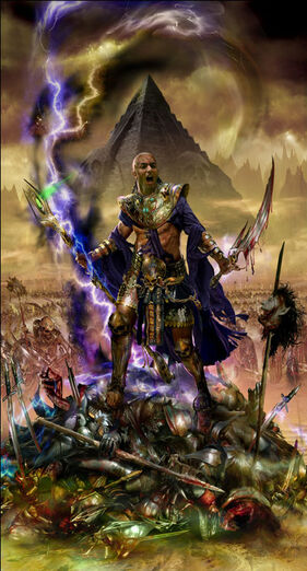 Portada El ascenso de de Nagash Nagash, el Hechicero por Jon Sullivan.jpg