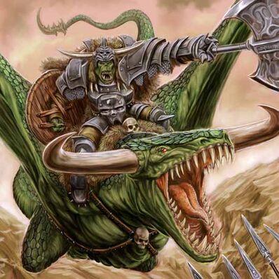 Kaudillo Orco en Serpiente Alada por Michael Phillippi.jpg