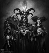 Cultistas de Morr por Mark Gibbons