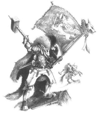Caballero del Lobo Blanco Portaestandarte por John Blanche.jpg
