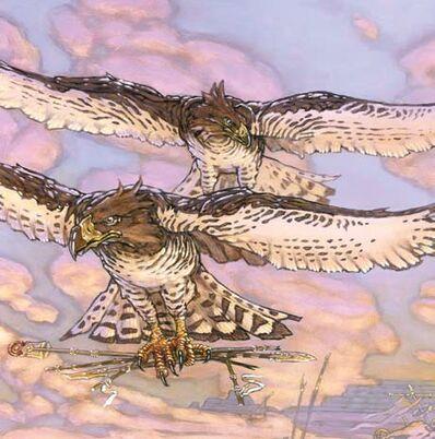 Águilas de la agulera del Amanecer por Chuck Lukacs.jpg