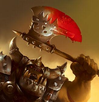 Warhammer LCG Hacha Zangrienta de Basha por Brad Rigney Cryptcrawler.jpg