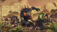 Trolls de río y Bruja Troll Warhammer Total War El Guardian y el Panzudo