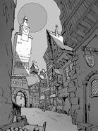 Vermintide concepto Calle Ubersreik por Peter Lundh
