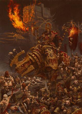 Ejército de Khorne por Adrian Smith Guerreros del Caos.jpg