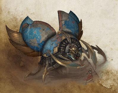 Titán de Khemri Reyes Funerarios Sam Lamont Forge World ilustración.jpg