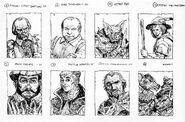 Personajes Kibro Marienburgo 01 por Russ Nicholson