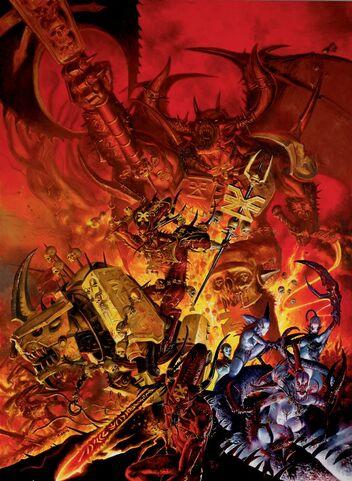 Portada libro de Ejército Demonios del Caos 7ª edición por Adrian Smith.jpg