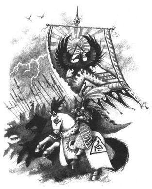 Portaestandarte Alto Elfo por John Blanche.jpg