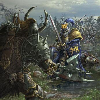 Guerreros del Caos contra Caballeros Pantera Imperio por Chris Trevas.jpg