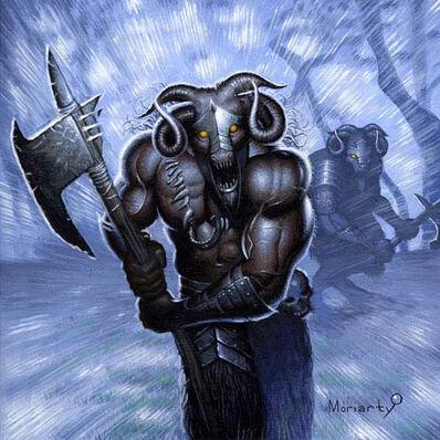 ¡Carga! de John Moriarty Hombres Bestia Warhammer card game .jpg