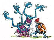 Bretoniano contra horror por Dave Gallagher