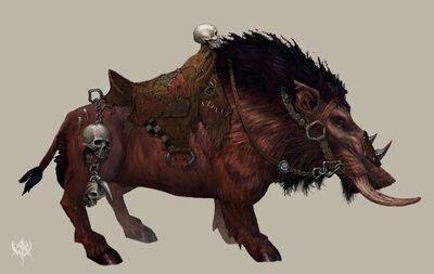 Jabalí de Guerra básico por Erik Polak Warhammer Online.jpg