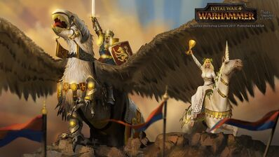 Victoria Bretonia por Milek Jakubiec Warhammer Total War Louen Leoncoeur y Morgana.jpg