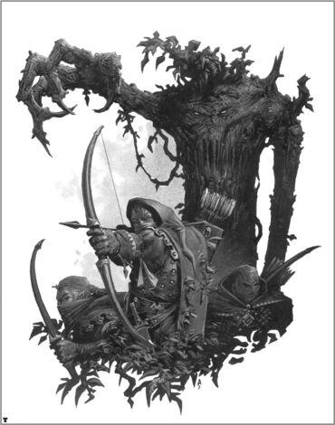 Forestales y Hombre Árbol por Adrian Smith Elfos Silvanos.jpg