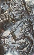 Interior art for Darkblade por Clint Langley