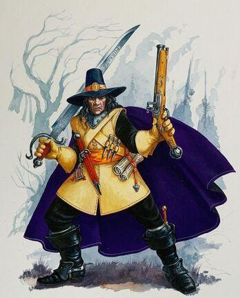 Cazador de Brujas de Warhammer Quest por Dave Gallagher.jpg