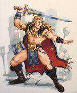 Bárbaro de warhammer quest por Dave Gallagher