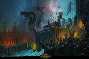 Morathi elfos oscuros campaña warhammer total war por Bayard Wu