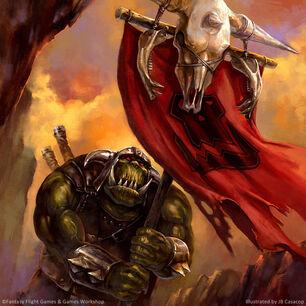 Warhammer invasion Portaestandarte orco de JB Casacop.jpg