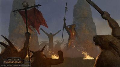 Sacrificio celebración Hombres Bestia por Milek Jakubiec Warhammer Total War.jpg