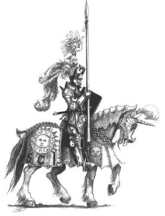 Caballero del Sol Llameante por John Blanche.jpg