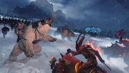 Caballeria oso y Aplastadores de Khorne Warhammer Total War 3